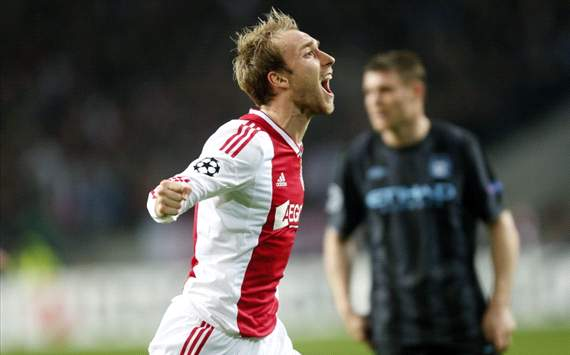 Christian Eriksen after the 3-1 Ajax vs Manchester City