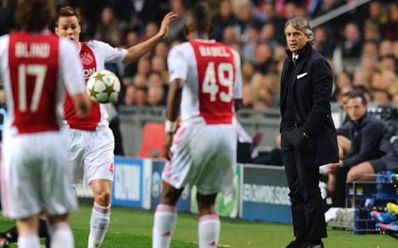 Manchester City boss Mancini admits Ajax defeat was his fault