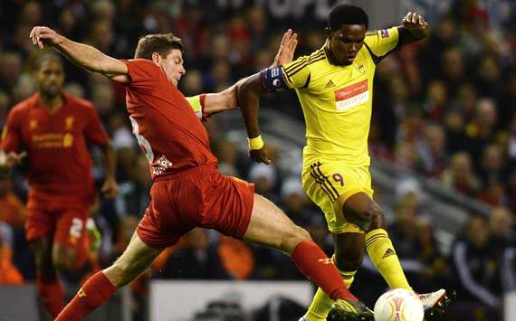 Liverpool v Anzhi Makhachkala, Steven Gerrard,  Samuel Eto'o