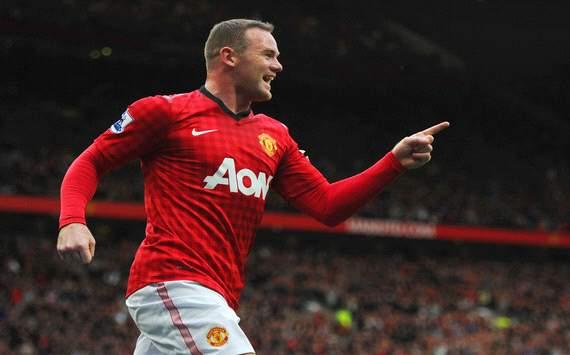 Wayne Rooney Manchester United versus Stoke