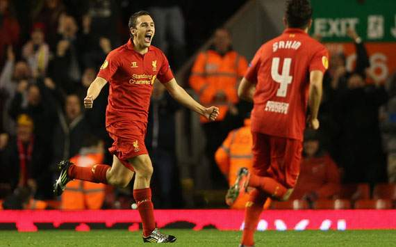Europa League - Liverpool FC and FC Anzhi Makhachkala, Stewart Downing