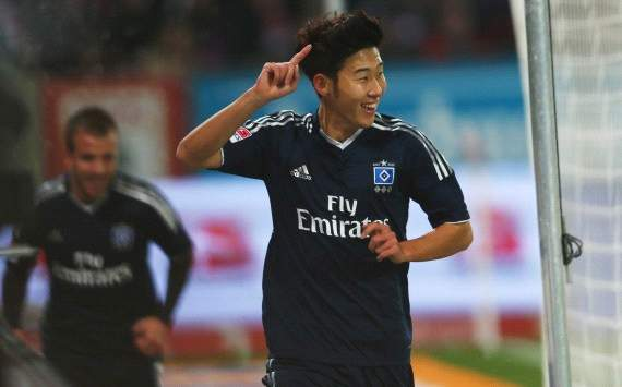 Germany: FC Augsburg - Hamburger SV, Heung-Min Son
