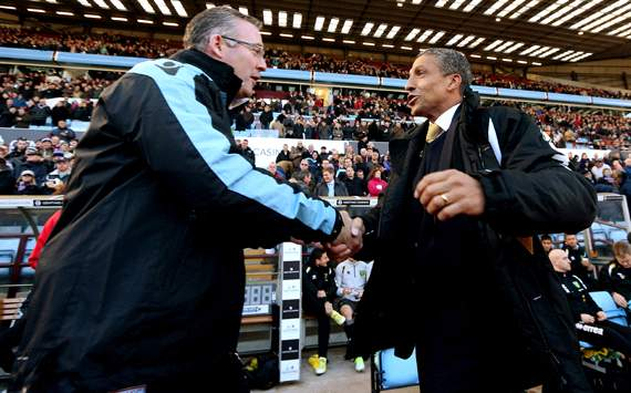 EPL; Chris Hughton; Paul Lambert; Aston Villa v Norwich City