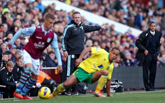 EPL, Aston Villa v Norwich City, Paul Lambert