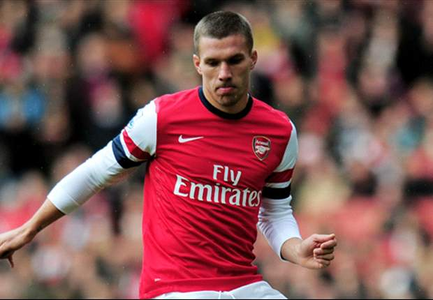 'S*** happens' - Podolski calls on Arsenal fans' support after Manchester City defeat