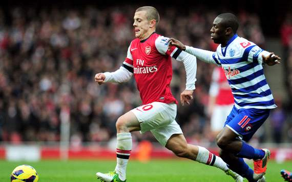 EPL: Jack Wilshere - Shaun Wright-Phillips, Arsenal v QPR