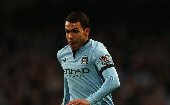 TEAM NEWS: Tevez &amp; Aguero start in attack for Manchester City's clash against Aston Villa