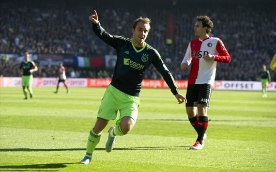 Eriksen na de 0-1 tegen Feyenoord