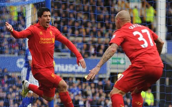 EPL: Luis Suarez -  Martin Skrtel, Everton v Liverpool
