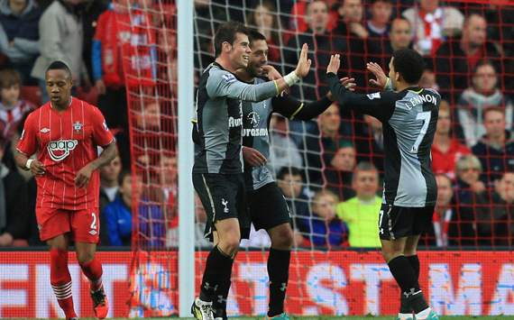 EPL: Gareth Balev - Aaron Lennon - Clint Dempsey,  Southampton v Tottenham