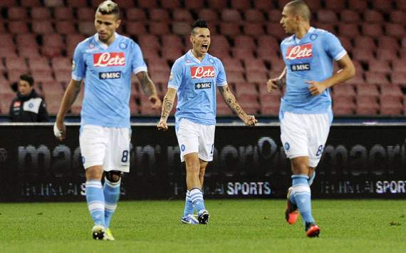 Napoli celebrating