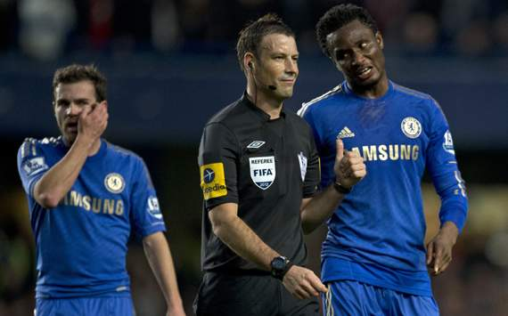 Mikel insists he would have 'no problem' with Clattenburg refereeing Chelsea again