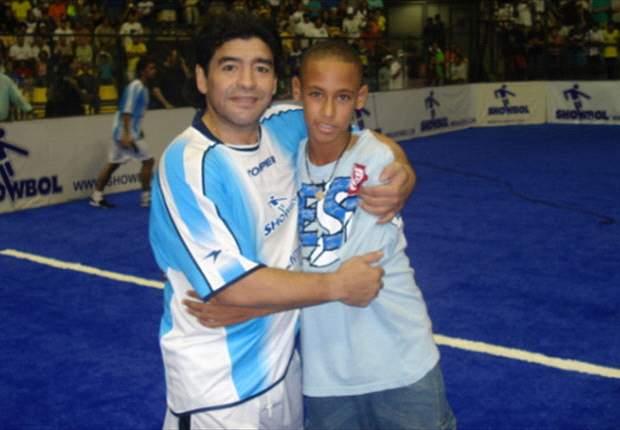 نیمار و مارادونا