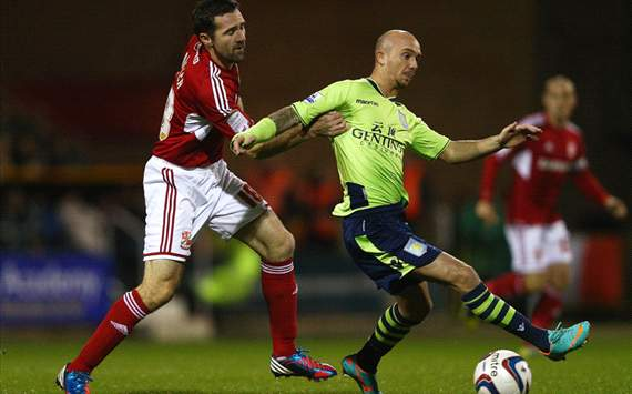 Capital One Cup - Swindon Town v Aston Villa, Stephen Ireland and Tommy Miller