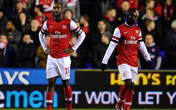 Capital One Cup, Reading v Arsenal, Johan Djourou, Emanuel Frimpong