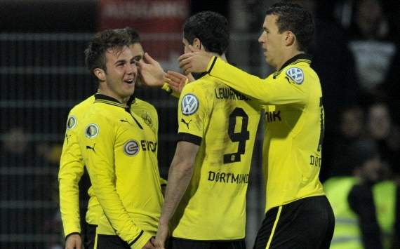 German Cup, VfR Aalen vs. Borussia Dortmund, mario Goetze