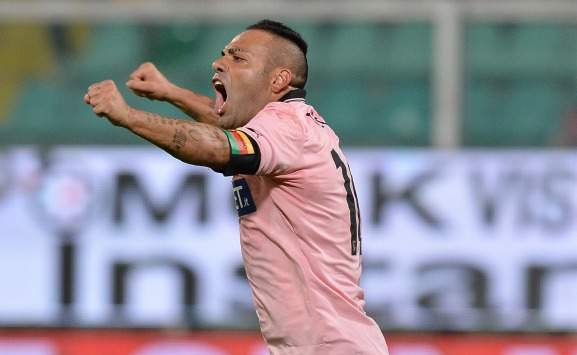Miccoli in Palermo-Milan (Serie A, Getty Images)