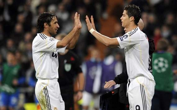 Raul and Cristiano Ronaldo, 2009-10