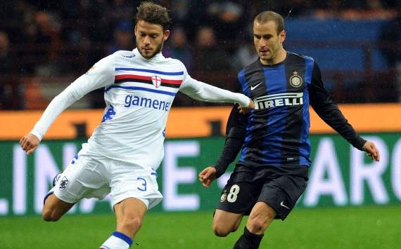 Rodrigo Palacio and Andrea Costa - Inter-Sampdoria