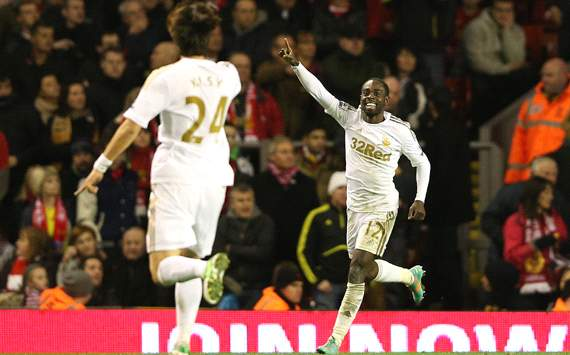 Capital One Cup, Liverpool v Swansea City, Nathan Dyer