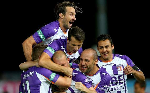 A-League - Perth Glory - celebration