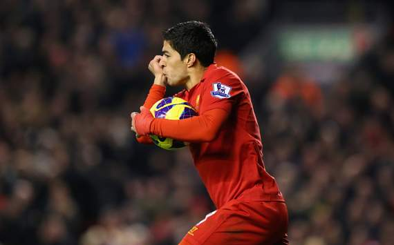 EPL - Liverpool v Newcastle United,  Luis Suarez