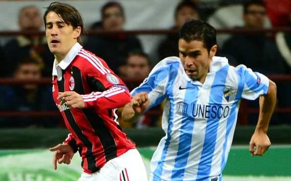 Bojan Krkic and Javier Saviola - AC Milan-Malaga