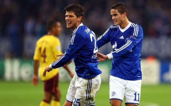 Huntelaar en Afellay hei bij Schalke 04