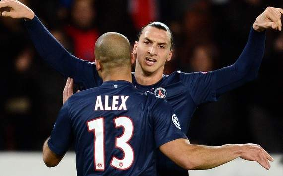 Champions League : Zlatan Ibrahimovic vs Alex (Paris SG vs Dinamo Zagreb)