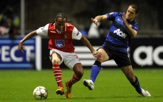 Leandro Salino - Chicharito / Braga-Manchester United