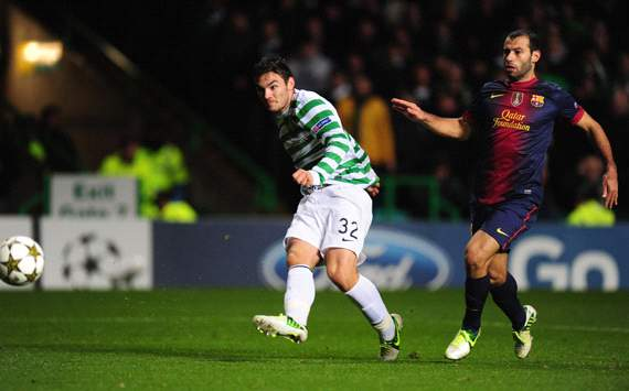 UEFA Champions League, Celtic v Barcelona, Tony Watt, Javier Mascherano