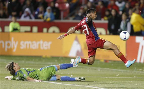 Paulo Araujo Jr., Real Salt Lake; Jeff Parke, Seattle Sounders FC; MLS