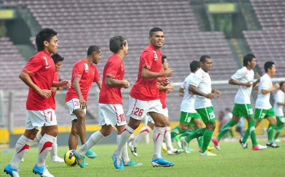 Timnas Indonesia - Simulasi Pertandingan (GOAL.com/Antara)