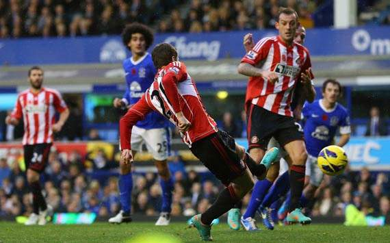 EPL, Everton v Sunderland, Adam Johnson
