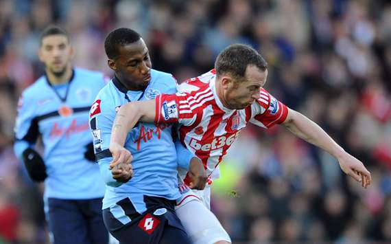 EPL - Stoke City v Queens Park Rangers, Charlie Adam and Junior Hoilett