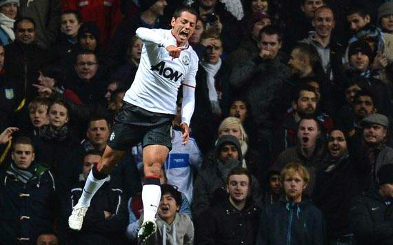 Epl, Aston Villa v Manchester United, Javier Hernandez