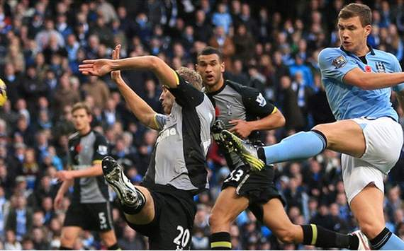 Dzeko will never be happy while on Manchester City bench, admits Mancini