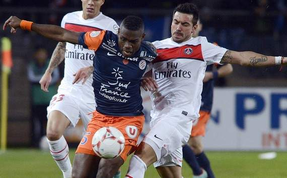 Ligue 1 : Henri Bedimo vs Ezequiel Lavezzi (Montpellier vs Paris SG)