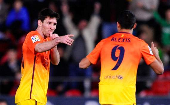 Messi & Alexis - Mallorca v Barcelona