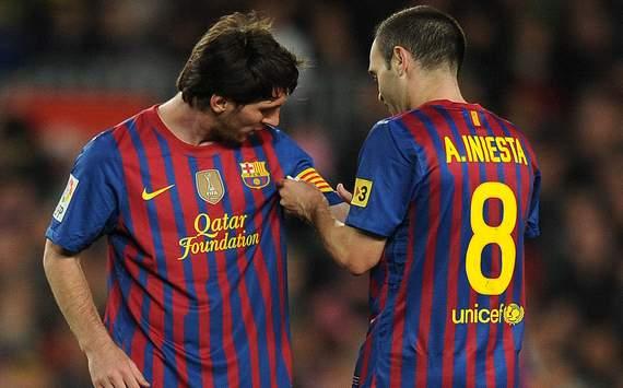 Andres Iniesta Lionel Messi