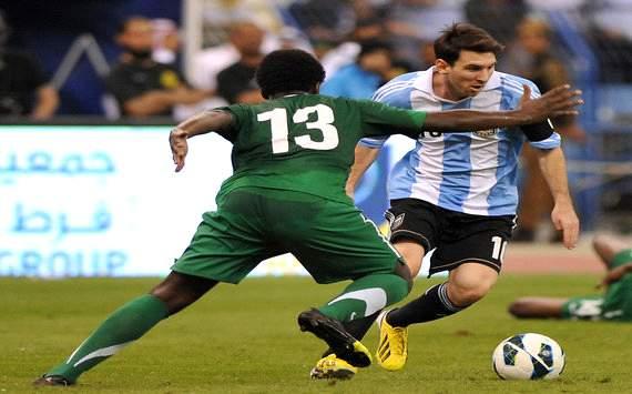 Leo Messi vs Saudi Arabia (Getty)