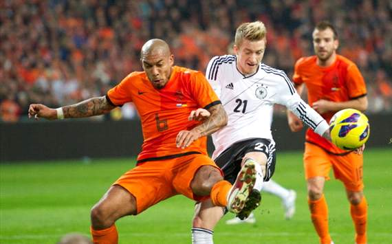 Nigel de Jong and Marco Reus (Netherlands - Germany)