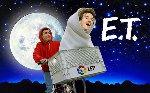 Messi, Cristiano Ronaldo, E.T.