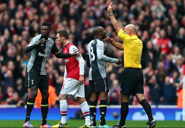 'One minute a hero, the next a villain' - Tottenham striker Adebayor devastated over Arsenal red card