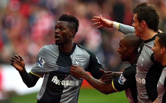 EPL: Emmanuel Adebayor, Arsenal v Tottenham