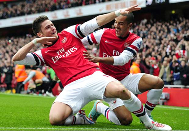 TEAM NEWS: Giroud & Diaby start as Arsenal make four changes from Bayern defeat