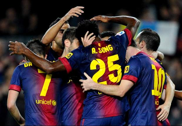 Lionel Messi, Alex Song y las cinco claves del Barcelona - Zaragoza