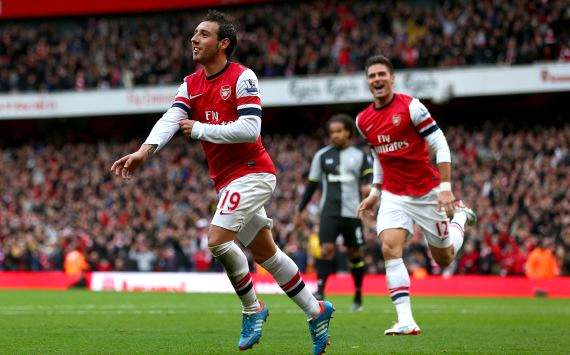 Santi Cazorla, Arsenal vs Tottenham