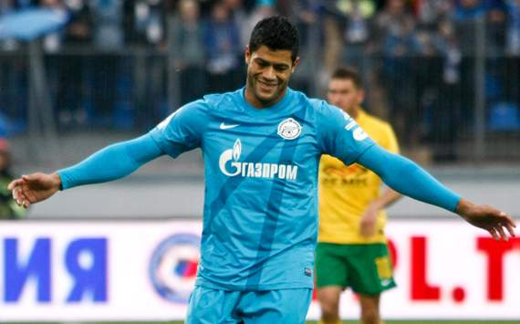 Hulk happy with life at Zenit St Petersburg
