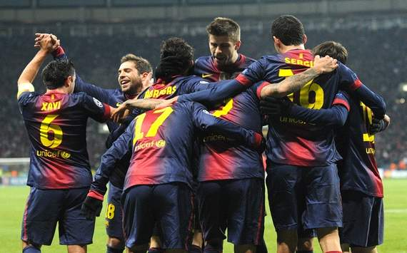 Barcelona celebrating Spartak